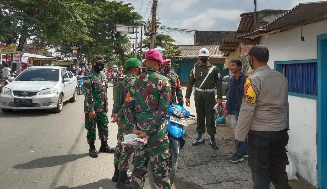 Patroli Penegakan Disiplin Protokol Kesehatan Di Jln Ratu Dibalau-Way Kandis