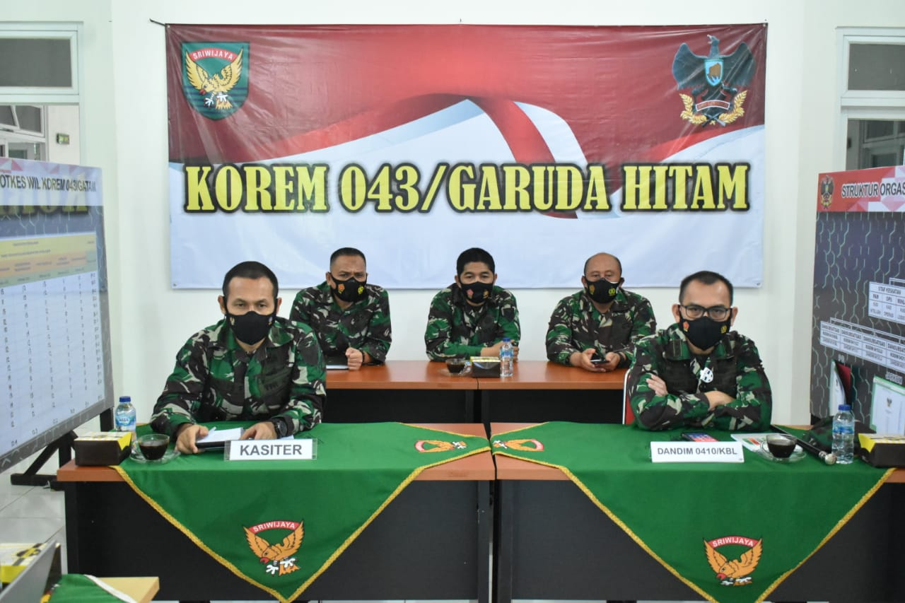Kolonel Inf Romas Herlandes Mengikuti Kegiatan Rakornister TNI AD Secara Virtual