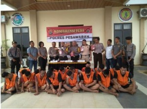 "Polres Pesawaran ""Press Release"" Ungkap Kasus Bulan Juli 2018"