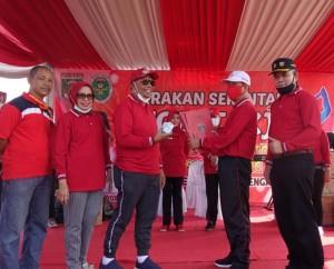 Bupati Loekman Djoyosoemarto 'Launching' Gertak Senam Gotong Royong Dan Siskamling