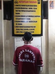 Tersangka Pencabulan Anak Pegawai T2TP2A Menyerahkan Diri Ke Polda Lampung